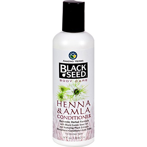 Black Seed Conditioner, Henna and Amla, 8 Ounce