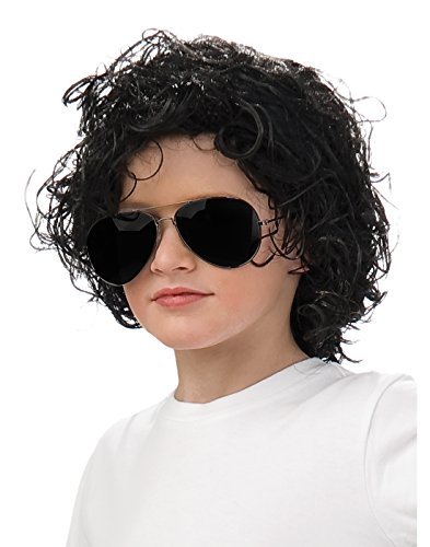 Rubies Michael Jackson Curly Child Wig - 80s Boys Costume