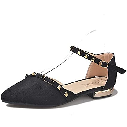 4463c17c6 Mzq-yq Sandals Female 2019 Spring and Summer Women s Shoes Wild Korean Rivet  Word Buckle