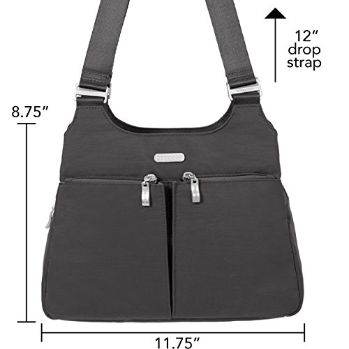Exterior Wristlet Charcoal Removable Purse Bag Pockets Baggallini Roomy Interior RFID Lightweight and Zippered and Satchel with �C 4wavqH