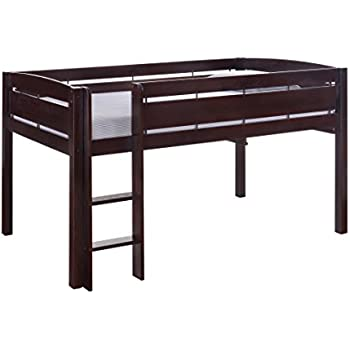 donco kids 760 cp low study loft bed dark cappuccino kitchen dining. Black Bedroom Furniture Sets. Home Design Ideas