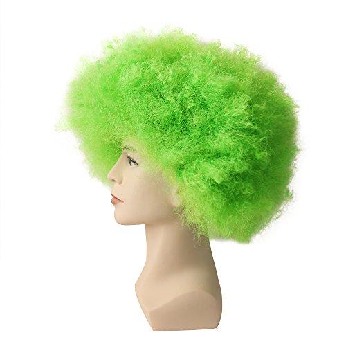 JUJIAN Green Jumbo Afro Wig Clown Wig for