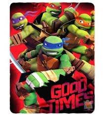 TMNT Teenage Mutant Ninja Turtles Good Times Fleece Throw Bl