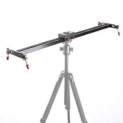 Fotga 40'/100cm Aluminum Alloy Pro Track Dolly Ball-Bearing Slider Stabilizer for Dslr Camera Video DV Rail System Studio
