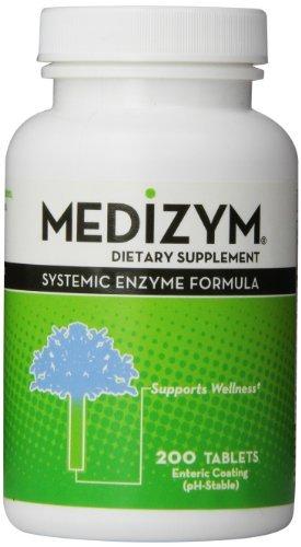 (Naturally Vitamins Medizym,Systemic Enzyme Formula, 200 Tablets by Medizym)