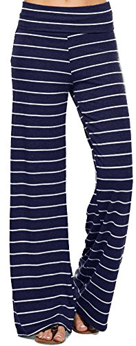 Marilyn & Main Women's Comfy Soft Stretch Pajama Pants,Navy/White,Small ()