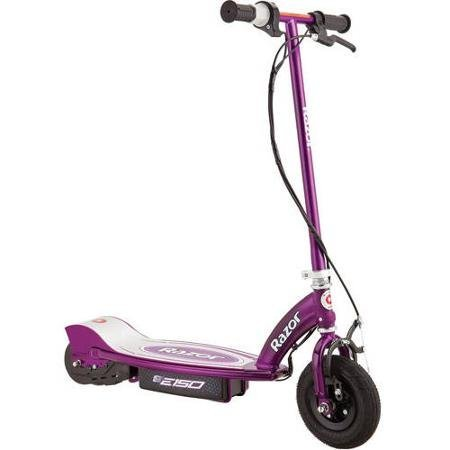 Electric Scooter for Kids, Razor E150 24-Volt Electric Scooter, 125mm Urethane Rear Wheel with ABEC-5 Bearings
