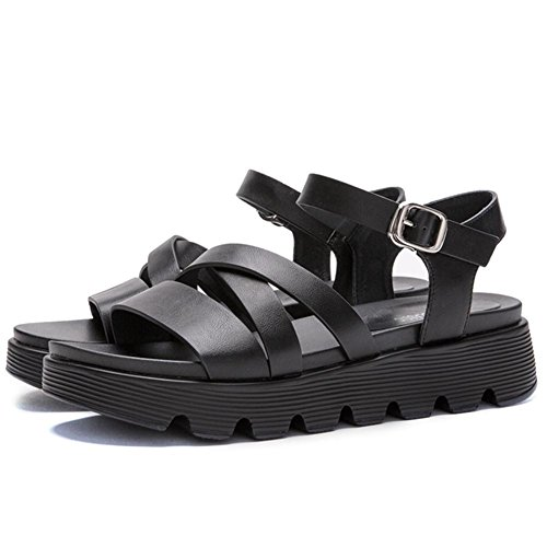 Étudiants Mode Nouvelles Exposées Femme De Sport Chaussures La Orteils Boucle Dans Sandales Sauvage Avec Été f8tqwWg