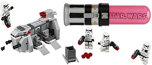 LEGO Star Wars Force Awakens Imperial Troop Transport with Rare Darth Vader Lightsaber Bubbles