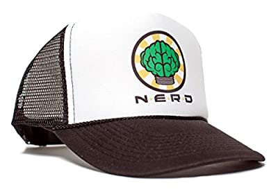 NERD Unisex-Adult One-size Trucker Hat Black/White