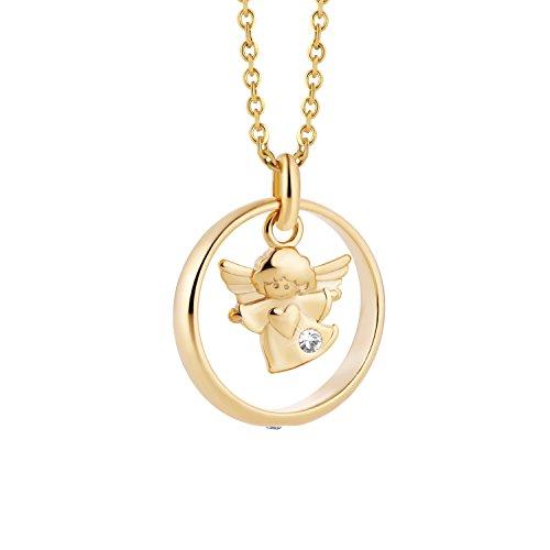 b2420694b718 Outlet Collar de oro amarillo con colgante de ángel de la guarda en oro  real 333