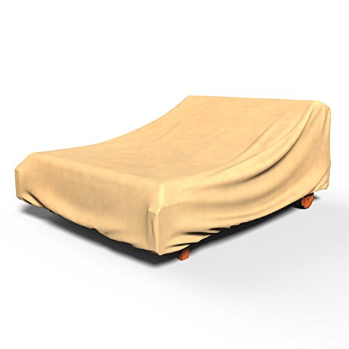 EmpirePatio Double Chaise Lounge Covers 32 in High - Nutmeg (Double Chaise Lounge Cover)