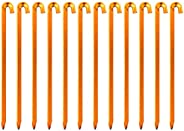 Azarxis Tent Stakes Pegs Heavy-Duty Forged Steel Metal Cast Wrought Iron 12 Inches - 8 Inches for Outdoors Cam