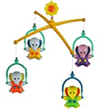 4Pcs Elephants Baby Crib Mobile Music Bed Bell Toy with Holder Arm Bracket