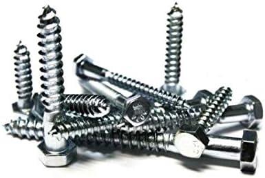 5//16x5 Hex Lag Screws Zinc Plated 100 Lukaswinges