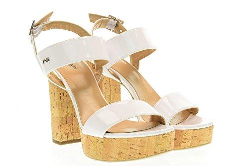 Nero Sandales Blanc Chaussures Giardini P717860de 707 8qEqwax6r