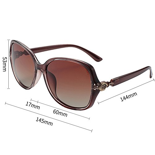 Round Vintage Designer Women Polarized Sunglasses Oversized Mirror by BLUEKIKI YEUX(Brown) (For Sellers Best Sunglasses Women)
