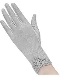 Women's Sunscreen Driving Gloves UV Protection Mitten Touch Screen Sun Protection Gloves Thin Breathable Lace Gloves