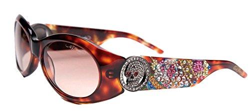 Ed Hardy EHS-032 King Sunglasses - Tortoise/Brown