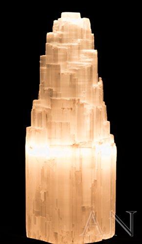 "Aisev Naturals - Selenite Electric Lamp 8"""