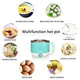Joyfulsky Electric Hot Pot 1.5L 110V 600W, 304 Food Grade Stainless Steel Inner Pot,Cook Noodles,Boil Water and Eggs, Electric Cooker, Noodles Cooker