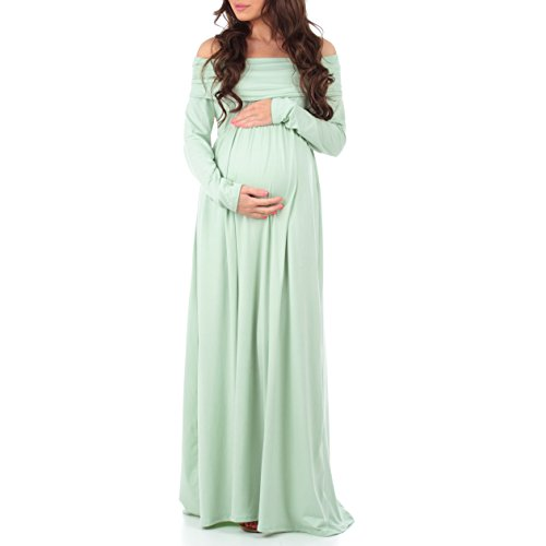 db5162e5df967 Women's Floral Over The Shoulder Ruched Maternity and Nursing Dress by  Mother Bee - Made in