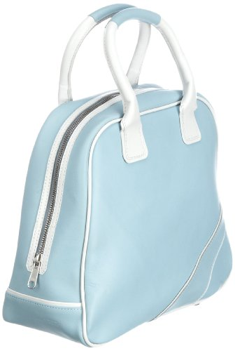 Swedish Hasbeens Vintage Sport Bag 107 - Bolsa al hombro de cuero unisex Azul