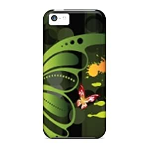 Shock-Absorbing Hard Phone Case For Iphone 5c (ikd12022pelc) Support Personal Customs Realistic Butterfly Skin