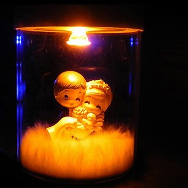 HJL- Mini Table Light,1 Light,Novelty Solar Lettering Tin Glass with Resin Doll by XCTXRF