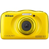 Nikon COOLPIX S33 Waterproof Digital Camera (Yellow) - International Version Key Pieces Review Image