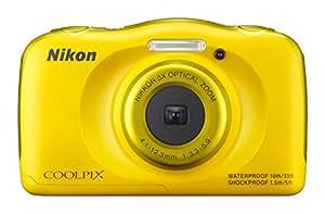 """Nikon Coolpix S33 - Cámara compacta de 13.2 Mp (pantalla de 2.7"""", zoom óptico 3x, resistente al agua, CMOS), amarillo"""