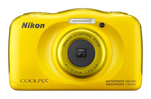 Nikon Coolpix S33 Digitalkamera (13,2 Megapixel, 3-fach opt. Zoom, 6,9 cm (2,7 Zoll) LCD-Display, USB 2.0, bildstabilisiert) gelb