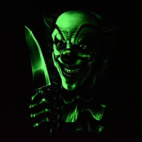 Joker Clown with Knife - Rock Eagle T-Shirt Glow in the Dark Nightmare