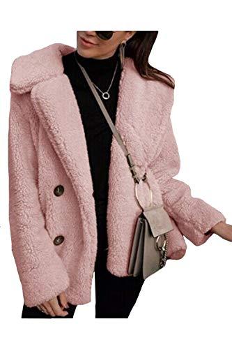De Fourrure Laine Fourrure Thick Rose Peluche Outwear Manteaux Manteaux En Femmes De Rose Vosujotis zvFwqPpfxq