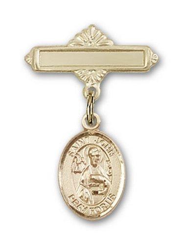 Icecarats Or Bijoux De Créateurs Rempli R. John Broche Le Badge De Charme Apôtre 1 X 5/8