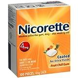 Nicorette Gum 100-pk. - Fruit (4 mg)