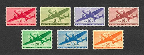 Classic US Transport Airmail Stamps complete set Mint Never-hinged Scott C25-C31