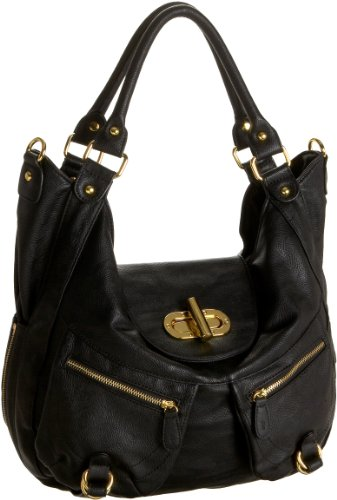 Melie Bianco Alyssa Hobo,Black,one size, Bags Central