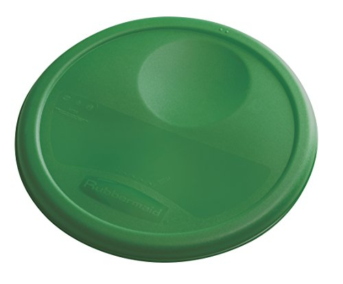 Rubbermaid Commercial Lid (Lid Only) for Round Food Storage Container, Fits 8 Qt. Containers, Green (1980381)