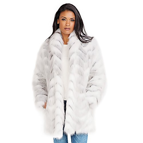 Donna Salyers' Fabulous-Furs Shawl Collar Coat (Crystal Fox, Medium)