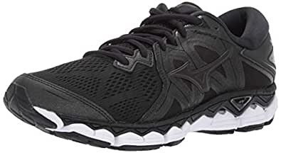 Mizuno Men's Wave Sky 2 Running Shoe, Black, 7 D US