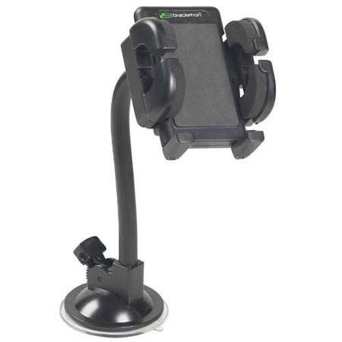 Bracketron Universal Grip-iT Rotating Windshield Car Mount Phone Holder Cradle Hands Free iPhone X 8 Plus 7 SE 6s 6 5s 5 4s Samsung Galaxy S9 S8 S7 S6 S5 Note Google Pixel 2 XL LG Nexus Sony PHW-203-BL