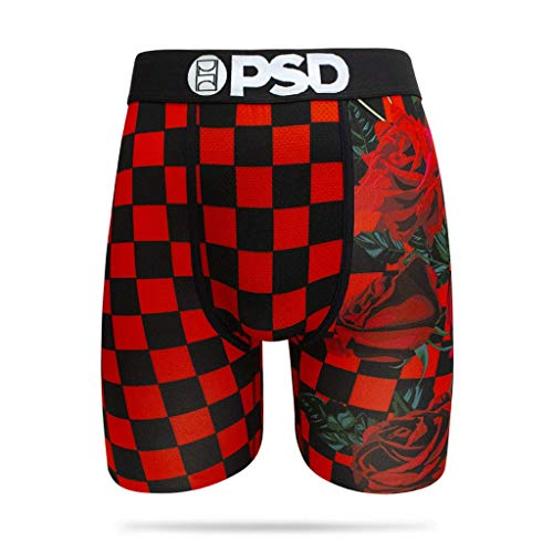 eea2194fb PSD Underwear Men's Red Wonderland Boxer Brief (Red, Small) from PSD  Underwear