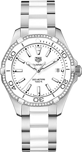 Tag Heuer Aquaracer Quartz Ladies Diamonds 35mm Ladies Watch WAY131H.BA0914