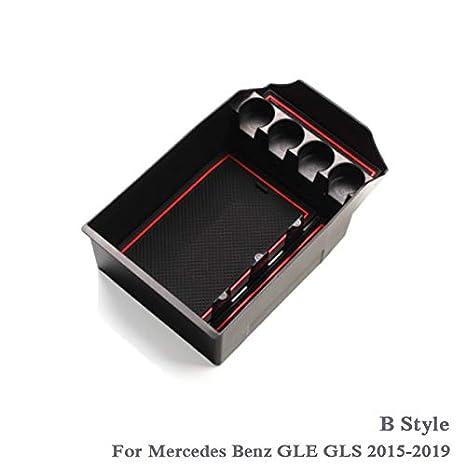 BPHMC Car Styling Auto Armlehne Aufbewahrungsbox for Mercedes Benz GLE GLS W167 2015-2019 LHD Auto Konsole Armlehne Rahmen Box Abdeckung Zubeh/ör Color Name : B