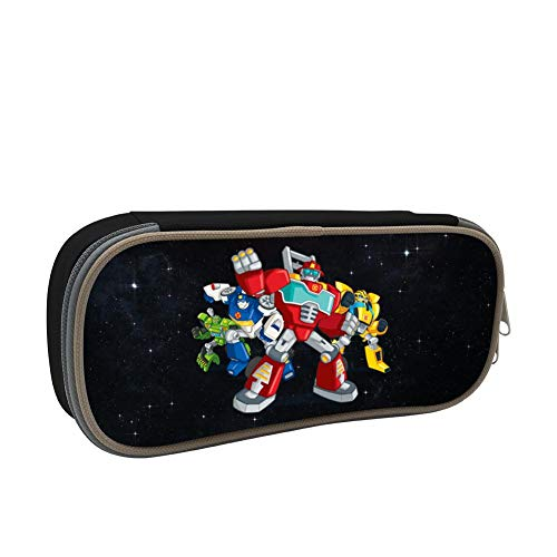 D-ecepticons T-ransformers Rescue-Bots-Cartoon Capacity Pencil Case Students Stationery Pen Bag Stylish Portable Zipper Organizer Pouch for School Office Supplies