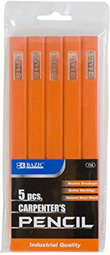 Carpenter's Pencil (5/Pack) 144 pcs sku# 1892880MA by Bazic
