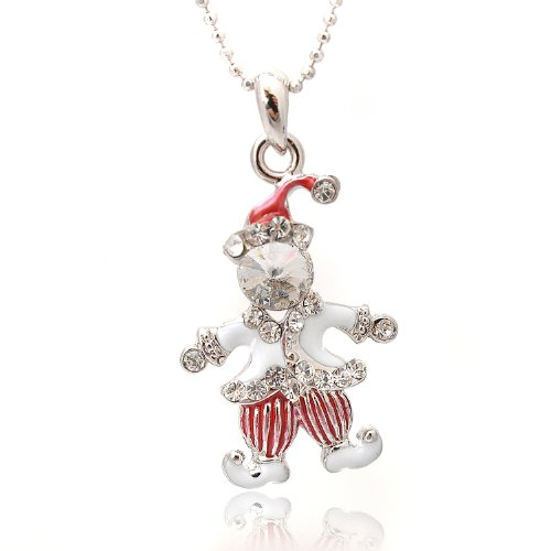 Necklace (White) (Clown Crystal)