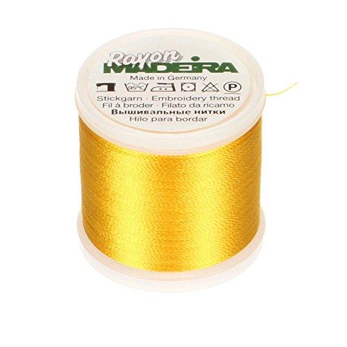 Tacony Corporation Madeira Rayon Thread Size 40 200 Meters-Yellow