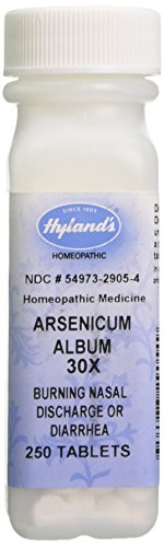 Hyland's Arsenicum Album 30X Tablets, Natural Relief of Burning Nasal Discharge or Diarrhea, 250 ()